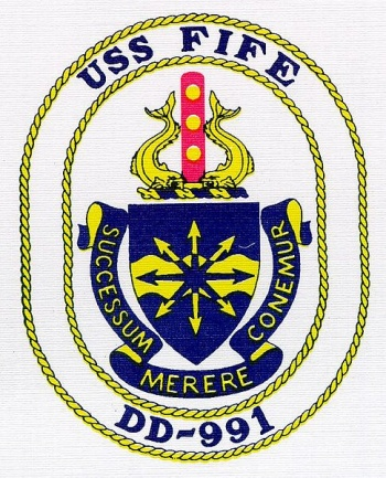 Coat of arms (crest) of the Destroyer USS Fife (DD-991)