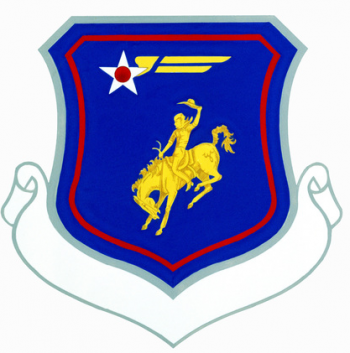 Coat of arms (crest) of the Wyoming Air National Guard, US