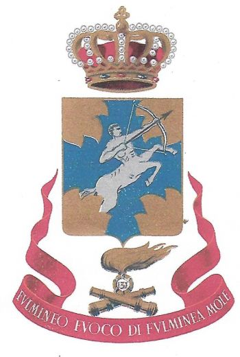 Coat of arms (crest) of the 131st Artillery Regiment of the Armoured Division Centauro, Italian Army