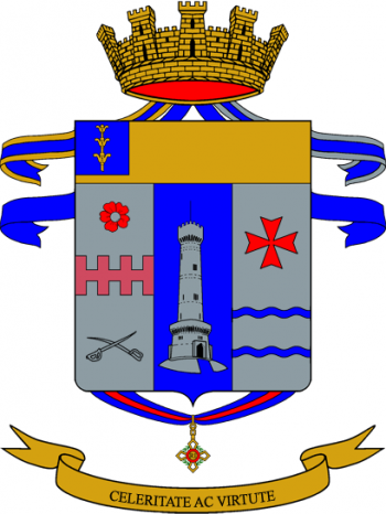 Coat of arms (crest) of the 7th Bersaglieri Regiment, Italian Army