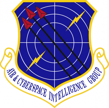 Coat of arms (crest) of the Air and Cyberspace Intelligence Group, US Air Force