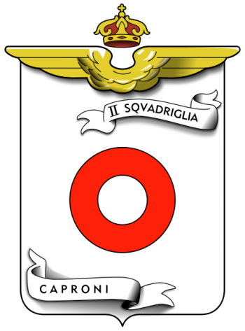 Coat of arms (crest) of the II Caproni Squadron, Regia Aeronautica