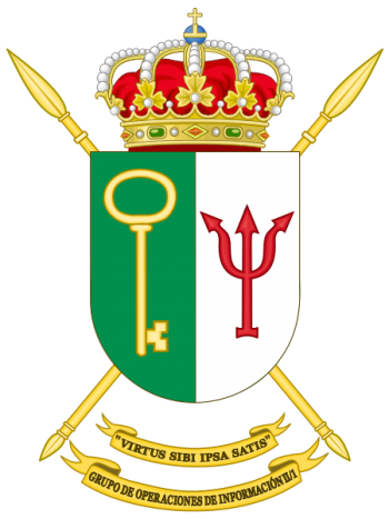 Coat of arms (crest) of the Information Operations Group II-1, Spanish Army