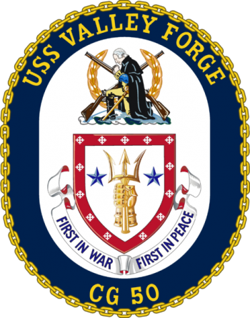 Coat of arms (crest) of the Cruiser USS Valley Forge