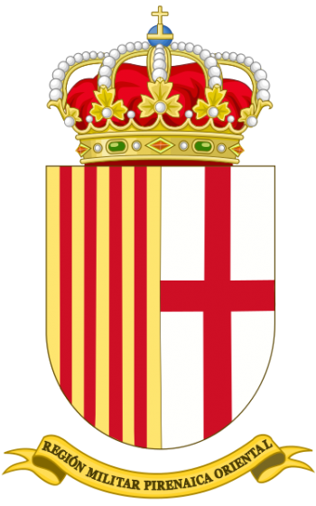 Coat of arms (crest) of the Eastern Pyrenean Military Region, Spanish Army