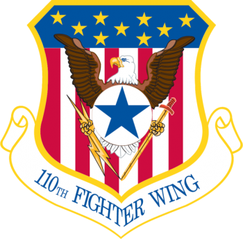 Coat of arms (crest) of the 110th Attack Wing, Michigan Air National Guard