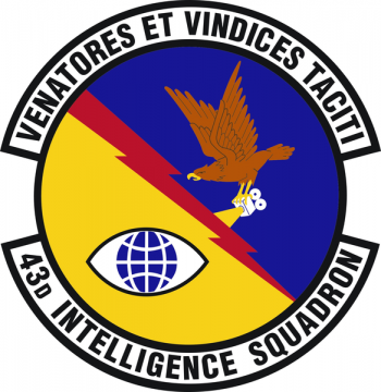 Coat of arms (crest) of the 43rd Intelligence Squadron, US Air Force
