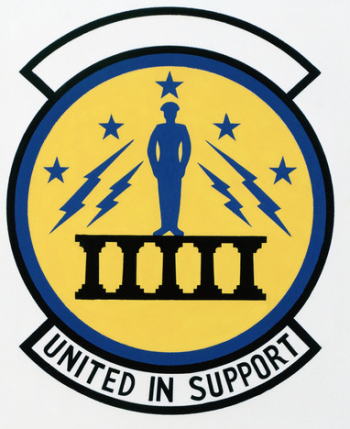 Coat of arms (crest) of the 7625th Logistics Squadron, US Air Force