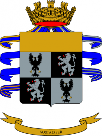 Arms of 6th Cavalry Regiment Lancieri di Aosta, Italian Army