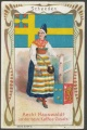 Arms, Flags and Folk Costume trade card Sweden