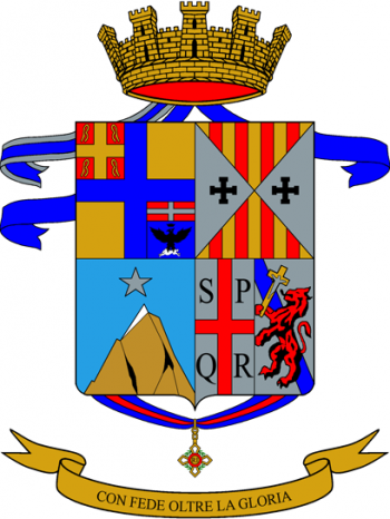 Coat of arms (crest) of the 60th Infantry Battalion Col di Lana, Italian Army