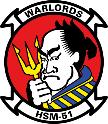 Coat of arms (crest) of the Helicopter Maritime Strike Squadron 51 (HSM-51) Warlords, US Navy