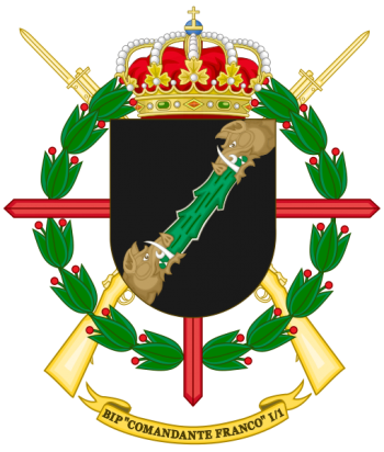 Coat of arms (crest) of the Protected Infantry Bandera Comandante Franco I-1, Spanish Army