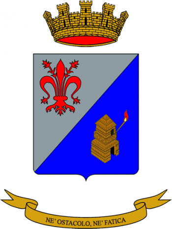 Coat of arms (crest) of the 43rd Signal Regiment, Italian Army