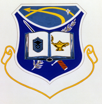 Coat of arms (crest) of the Air Force Space Command Noncomissioned Officer Professional Military Eduaction Center, US Air Force
