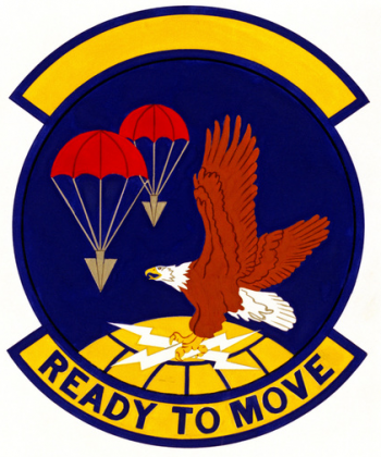 Coat of arms (crest) of the 133rd Aerial Port Squadron, US Air Force