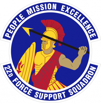Coat of arms (crest) of the 22nd Force Support Squadron, US Air Force