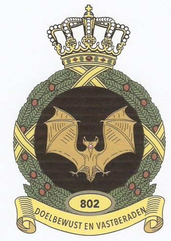 Coat of arms (crest) of the 802 Patriot Squadron, Netherlands Army