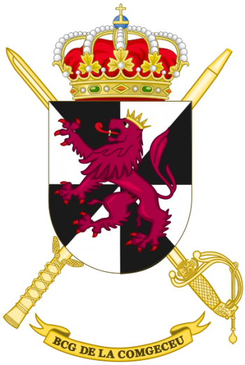 Coat of arms (crest) of the Ceuta General Command Headquarters Battalion, Spanish Army