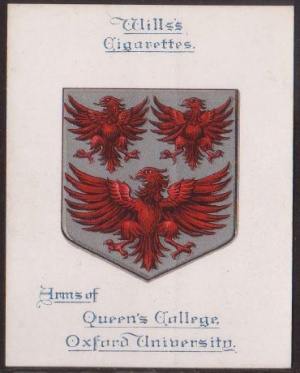 Arms of The Queen's College (Oxford University)