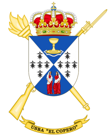 Coat of arms (crest) of the Base Services Unit El Copero, Spanish Army