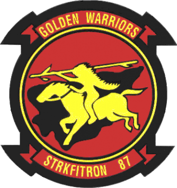 Coat of arms (crest) of the VFA-87 Golden Warriors, US Navy