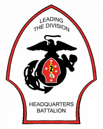 Coat of arms (crest) of the Headquarters Battalion 2nd Marine Division, USMC