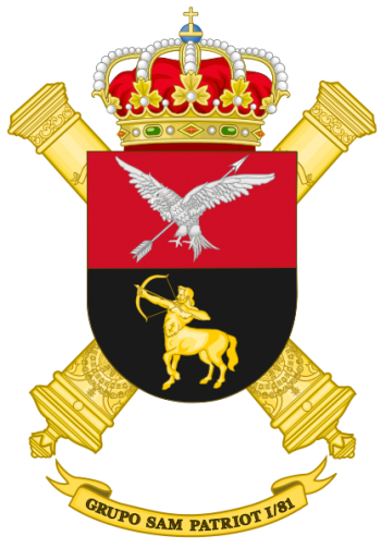 Coat of arms (crest) of the SAM Patriot Missile Anti Aircraft Group I-81, Spanish Army