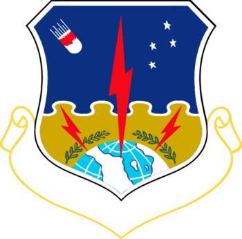 Coat of arms (crest) of the 1st Strategic Aerospace Division, US Air Force