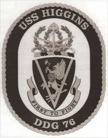 Coat of arms (crest) of the Destroyer USS Higgins