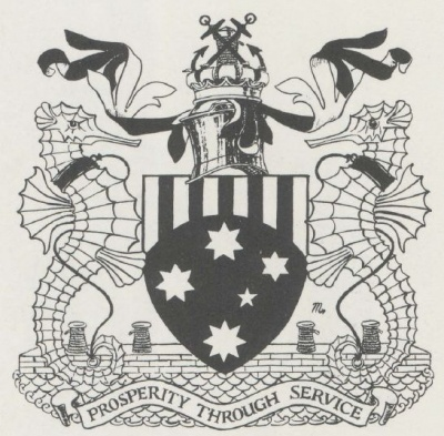 Arms of Melbourne Harbour Trust Commissioners