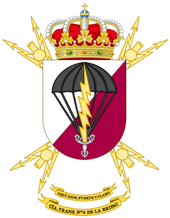 Coat of arms (crest) of the Signal Company No 6 of the Parachute Brigade, Spanish Army