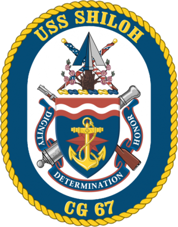 Coat of arms (crest) of the Cruiser USS Shiloh