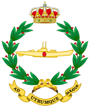 Coat of arms (crest) of the Navy Submarine School, Spanish Navy