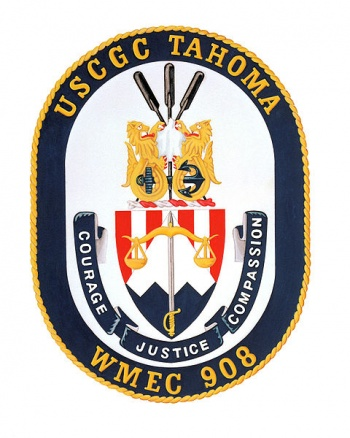 Coat of arms (crest) of the USCGC Tahoma (WMEC-908)