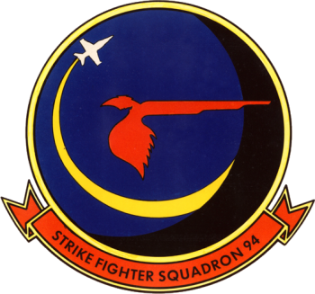 Coat of arms (crest) of the VFA-94 Mighty Shrikes, US Navy