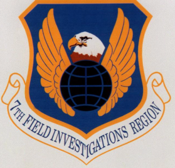 Coat of arms (crest) of the 7th Field Investigations Region, US Air Force