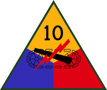 Arms of 10th Armored Division, US Army