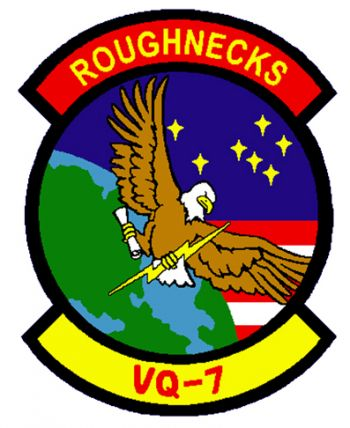 Coat of arms (crest) of the Feet Air Reconnaissance Squadron 7 (VQ-7) Roughnecks, US Navy
