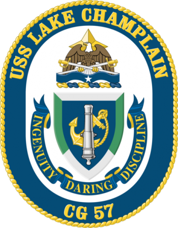Coat of arms (crest) of the Cruiser USS Lake Champlain
