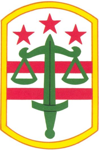 Arms of 260th Military Police Command, District of Colombia Army National Guard