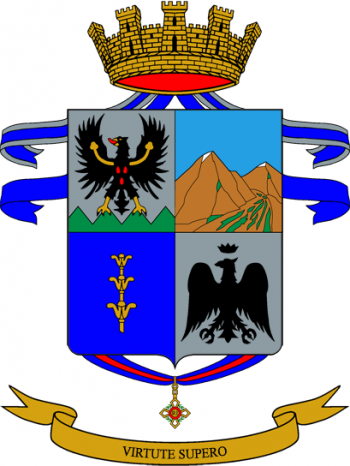 Coat of arms (crest) of the 62nd Armoured Infantry Regiment Sicilia, Italian Army