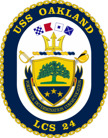 Coat of arms (crest) of the Littoral Combat Ship USS Oakland (LCS-24)