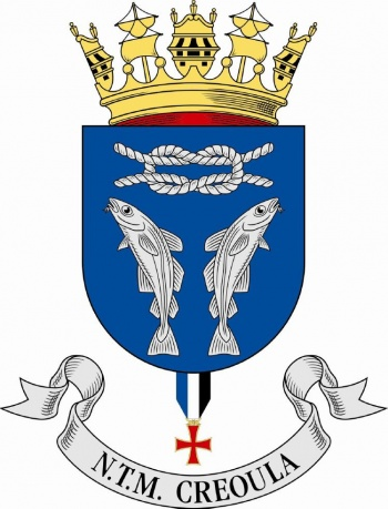 Coat of arms (crest) of the Sail Training Ship NTM Creoula, Portuguese Navy