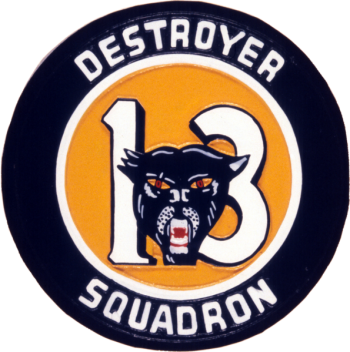 Coat of arms (crest) of the Destroyer Squadron Thirteen, US Navy