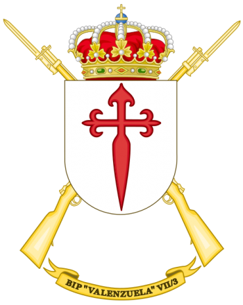 Coat of arms (crest) of the Protected Infantry Bandera Valenzuela VII-3, Spanish Army