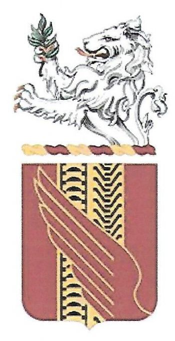 Arms of 519th Support Battalion, Indiana Army National Guard
