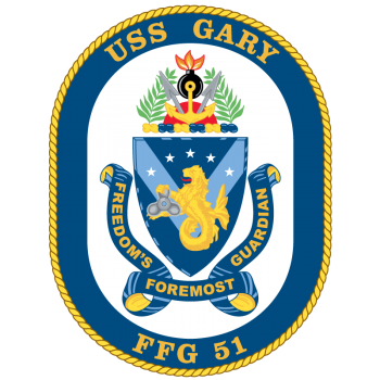 Coat of arms (crest) of the Frigate USS Gary (FFG-51)
