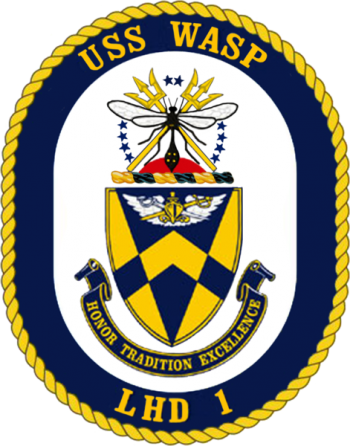Coat of arms (crest) of the Landing Helicopter Dock USS Wasp (LHD-1)