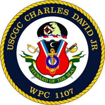 Coat of arms (crest) of the USCGC Charles David JR (WPC-1107)